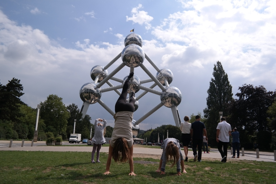 Hand standing in Brussels
