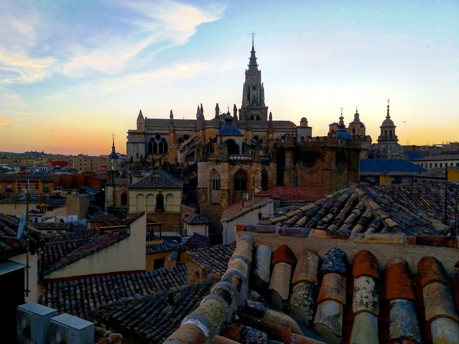 Sunset over the old city of Toledo
