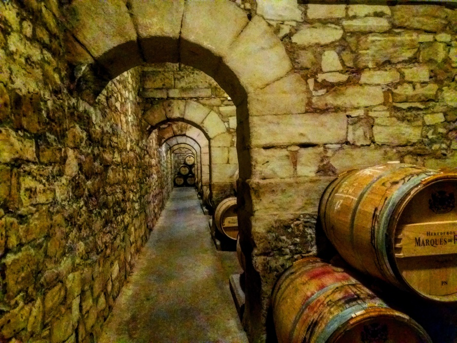 Marques de Riscal Rioja aging in French oak barrels